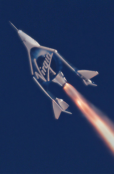 Image of a Virgin Galactic spacecraft